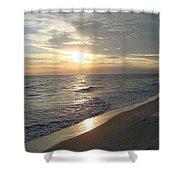 Sunset On The Beach Shower Curtain