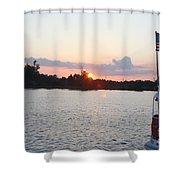 Sunset On The Cape Fear River North Carolina Shower Curtain