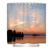 Sunset On The Chippewa Shower Curtain