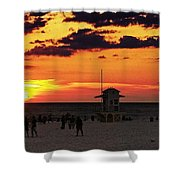Sunset On The Clearwater Beach Shower Curtain