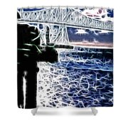 Sunset On The Columbia River Shower Curtain