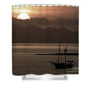 Sunset On The Edge Of The World Shower Curtain