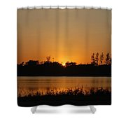 Sunset On The Edge Shower Curtain