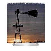 Sunset On The Farm Shower Curtain