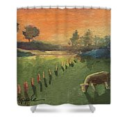 Sunset On The Farm Shower Curtain