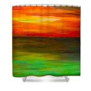 Sunset On The Gulf Shower Curtain
