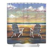 Sunset On The Gulf Coast Shower Curtain