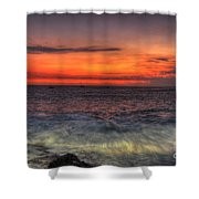 Sunset On The Harbor Shower Curtain
