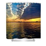 Sunset On The Hudson 03 New York Shower Curtain