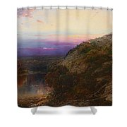 Sunset On The Hudson Shower Curtain