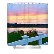 Sunset On The Indian River Shower Curtain
