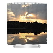 Sunset On The Lakefront Shower Curtain