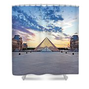 Sunset On The Louvre Shower Curtain