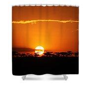 Sunset On The Mara Shower Curtain