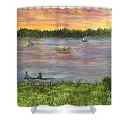 Sunset On The Merrimac River Shower Curtain