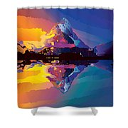 Sunset On The Mountains Shower Curtain