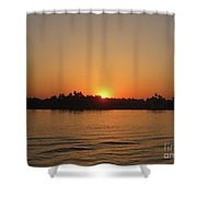 Sunset On The Nile Shower Curtain