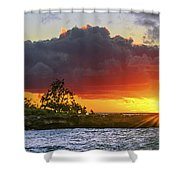 Sunset On The North Shore Of Oahu Shower Curtain