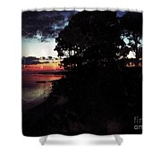 Sunset On The Ocean Shower Curtain
