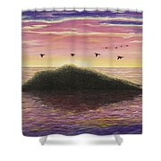 Sunset On The Pacific Shower Curtain