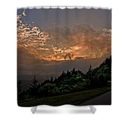 Sunset On The Parkway Shower Curtain