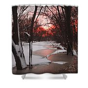 Sunset On The Red Cedar Shower Curtain