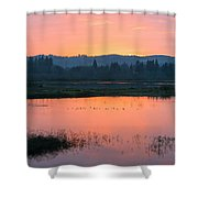 Sunset On The Refuge Shower Curtain