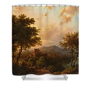 Sunset On The Rhine Shower Curtain