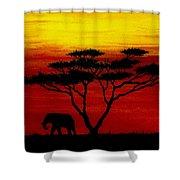 Sunset On The Serengeti Shower Curtain