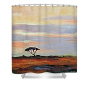 Sunset On The Serengheti Shower Curtain
