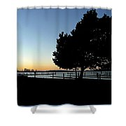 Sunset On The Sound 2 Shower Curtain