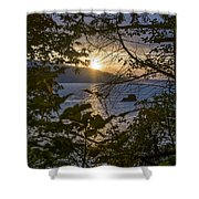 Sunset On The Sound2 Shower Curtain