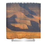 Sunset On The South Rim Of The Canyon Shower Curtain