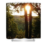 Sunset On The Trace Shower Curtain