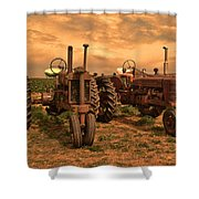 Sunset On The Tractors Shower Curtain