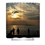 Sunset On The Upper Bay Shower Curtain