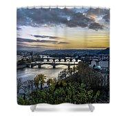 Sunset On The Vltava Shower Curtain