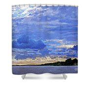Sunset On The Volga. Gorodets Shower Curtain