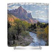 Sunset On The Watchman Shower Curtain