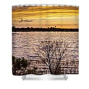 Sunset On The Wetlands Shower Curtain