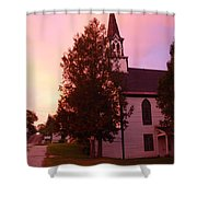 Sunset On The Whitefield Methodist Church Shower Curtain