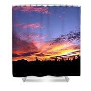 Sunset On Vancouver Island Shower Curtain