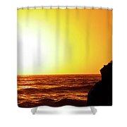 Sunset On Wall Beach Shower Curtain