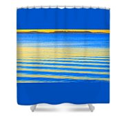 Sunset On Waves Shower Curtain
