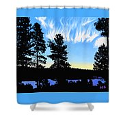 Sunset On Wickiup Shower Curtain