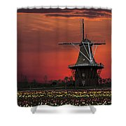 Sunset On Windmill Island Shower Curtain