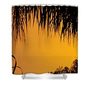 Sunset Orange After Storm Shower Curtain