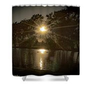 Sunset Over A Lake Shower Curtain