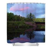Sunset Over Amoonoosuc River Shower Curtain