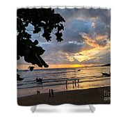 Sunset Over Ao Nang Beach Thailand Shower Curtain